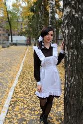 Классный белый школьный фартук. Киев ,  Донецк ,  Украина