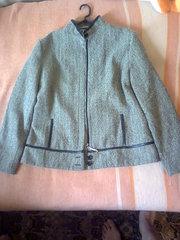 Пиджак на молнии 48, 50 размер,  серый