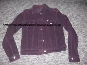 очень прикольная вельветовая курточка motor jeans