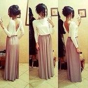 Праздничное длинное платье спадающее с плеча(261109)