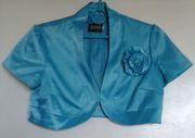 Болеро бирюзового цвета на подкладке