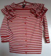 Кофта в красно-белую полоску H&M