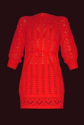 Платье- туника алого цвета