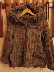 Куртка вязаная с капюшоном осень-весна эксклюзив