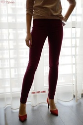 Бордовые джинсовые штаны Clockhouse