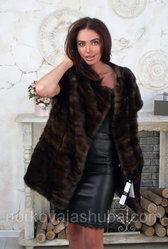 Женская жилетка норковая размер 50 52 54 распродажа