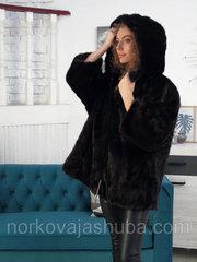 Женская фирменная норковая шуба с капюшоном 48 50 скидки