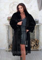 Женская шуба норковая классика размер 56 58